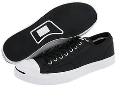 418948a4d32f  Converse Jack Purcell® Leather Black White - Zappos.com Free Shipping BOTH