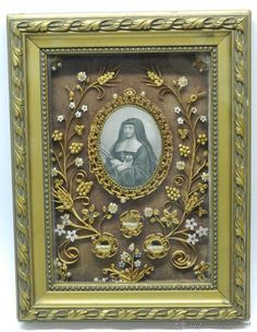 Quilling Craft, Paper Quilling, Francisco Sales, Old Globe, Art Furniture, Memento Mori, Sacred Heart, Brass Metal, Religious Art