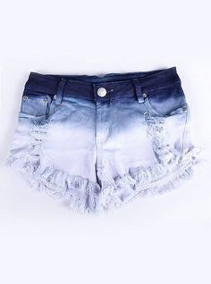 shorts for summer yes? Cute Teen Outfits, Teen Fashion Outfits, Short Outfits, Denim Fashion, Estilo Fashion, Tie Dye Jeans, Tie Dye Shorts, Diy Shorts, Cute Shorts