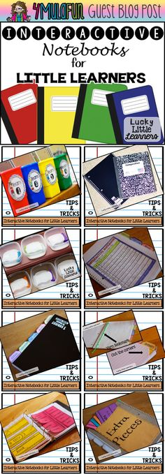 Great tips for using Interactive Notebooks with LITTLE LEARNERS!  Read this post for storage, organization, timeliness, and assembly ideas!  Interactive Notebooks will be your favorite teaching tool too!