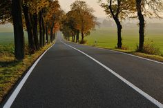 Autumn road with no traffic Weekend Trips, Detailed Image, Country Roads, Autumn, Nature, Photography, Naturaleza, Photograph, Fall Season