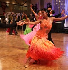 """Smooth Ballroom Dress based on """"the girl on fire dress"""" from The Hunger Games"""