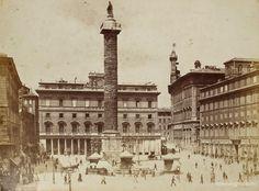 Piazza Colonna 1890 Rome, Italy