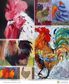 Chicken and Rooster Art