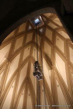 L'interno della cupola della Mole Antonelliana. #Torino