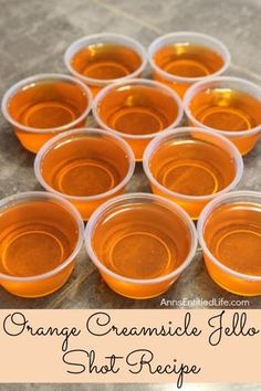Orange Creamsicle Jello Shots Recipe. If you liked Orange Creamsicles as a kid… Wine Shipping, Jello, Cantaloupe, Fruit, Food, Eten, Hoods, Meals, Jelly