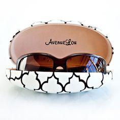 Avenue Lou Black & White Quatrefoil Sunglass Case . Starting at $1 on Tophatter.com!