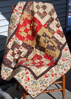Baby Quilt Lap Quilt Bento Box in Moda by MulberryPatchQuilts