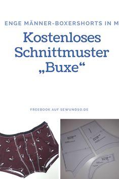 """Gratis Schnittmuster: Freebook """"Buxe"""" Boxershorts für Männer auf sewundso.de"""