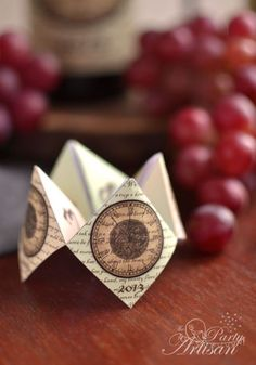 The Party Artisan  Fortune Tellers for your New Year's Eve Party. homemade fortune tellers?