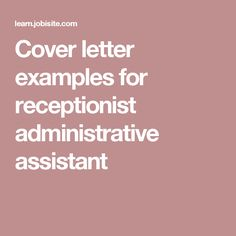 Cover Letters For Executive Assistants Awesome Administrative Assistant & Executive Assistant Cover Letter Samples .