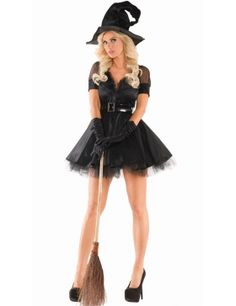BEWITCHING PIN-UP WITCH COSTUME