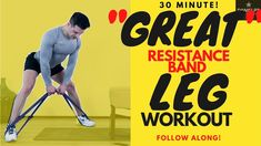 Discover recipes, home ideas, style inspiration and other ideas to try. Resistance Band Workout Legs, Leg Workout With Bands, Resistance Bands, Super Set Workouts, Great Leg Workouts, Body Workouts, At Home Glute Workout, At Home Workouts For Women, Super Sets