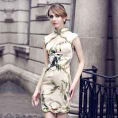 Attractive Sleeveless Modern Silk Cheongsam Qipao Dress - Qipao - Cheongsam - Women