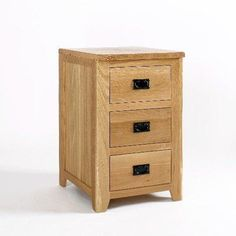 westbury oak 3 drawer office cabinet by Ametis