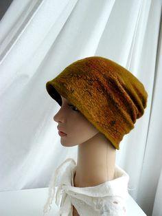 Felted Hat Clothing gift Nuno felt beanie Hat by MajorLaura