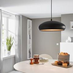 EGLO Pendant Lamp Mogano. This copper and black pendant light has a sturdy steel shade and a simple, yet stylish design, and will make a great addition to your living space. Thanks to its low heat transmission and power consumption, this pendant lamp is environmentally friendly.