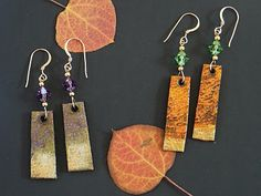 These earrings are made from plastic milk jug i like the for How to make paper mache jewelry