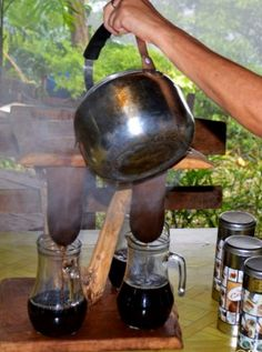 An Authentic Chorreador in Costa Rica. More at: http://www.twoweeksincostarica.com/9-gifts-costa-rica-lover/ #CostaRica #coffee #culture