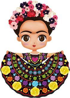 caricatura fondos de pantalla de frida kahlo - BúsquedadeGoogle 14 Birthday Party Ideas, Frida Kahlo Cartoon, Kawaii 365, Kahlo Paintings, Flowery Wallpaper, Frida Art, Sugar Skull Design, Painted Clay Pots, Fusion Art