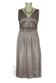 Ripe Deluxe Satin Maternity Evening Dress in Latte by Ripe Maternity with free shipping