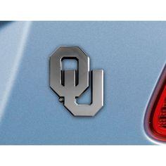 Oklahoma Sooners NCAA Chrome Car Emblem 2.3in x 3.7in
