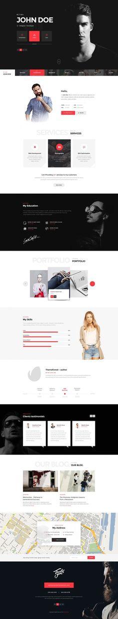 Themenum – Personal Vcard Resume & Cv in Web design