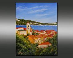 La Baie de Villefranche-sur-mer Bruni Eric Villefranche Sur Mer, Painting, Figurative, Painting Art, Paintings, Painted Canvas, Drawings