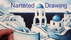 Learn how to draw a Greek Village on the Island of Santorini in this step by step narrated pencil drawing. See how to draw buildings and steps step by step. Colorful Drawings, Colorful Pictures, Online Drawing Course, Greek Paintings, Building Illustration, Art Inspiration Drawing, Watercolor Pencils, Watercolour, Drawing Techniques