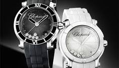 The 7 exclusive journal Chopard Happy Sport Medium Black and White. Cool Watches, Watches For Men, Female Watches, Sporty Chic, Chopard, Luxury Watches, Michael Kors Watch, Omega Watch, Summer Time