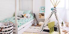 Un dormitorio nórdico & chic - Cuartos infantiles #decoinfantil #dormitorios #decopractica #historiasparavivir #casasparavivir Toddler Bed, Furniture, Home Decor, Diy, Environment, Small Beds, Raised Beds, Decorate Walls, Home Decorations