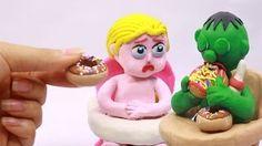 Hulk baby & Elsa sharing food Superhero In Real Life | Play Doh Stop Motion Animation - YouTube