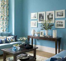 Blue Walls Living Room