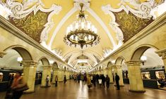 Metro station in Moscow, Russia