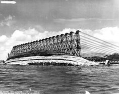War History Online  Righting the USS Oklahoma during salvage operations 8 March 1943