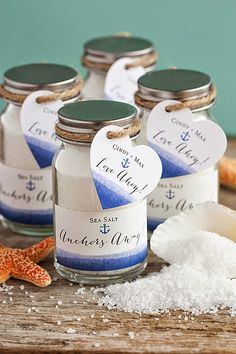 Nautical Wedding Favors For a Seaside Wedding Ceremony. Read more: http://simpleweddingstuff.blogspot.com/2015/01/nautical-wedding-favors-for-seaside.html