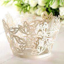 Saias de cupcake renda borboleta- pacote com 12 unds #lojavirtual  #festas #casamento #festajardim #borboletas