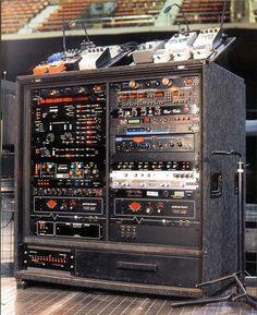 David Gilmour's guitar rig.