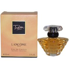 $45.00 Introduced in the year 1990, by the design house of Lancome. Tresor is a sensual fragrance with a blend of lilac, rose, apricot, amber, and musk. It is recommended for daytime wear.  This was my first favorite!