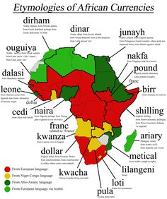 Etymologies of African Currencies.
