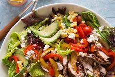 Avocado + Chicken Fajita Cobb - What's Gaby Cooking
