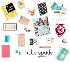 Kate Spade Gifts Under $100: The Great Gatsby notebook, stationery, eat cake for breakfast journal, idiom pencils, 2014 desktop calendar filled with beautiful illustrations, Things I love coffee table boo