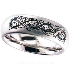 Geti Celtic Ouroboros Titanium Ring