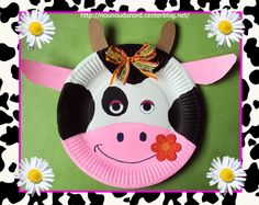 Paper plate cow craft by nounoudunord
