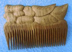 Расчёска деревянная резная - ручная работа