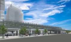 A rendering of the upgrades planned for Main Street SkyTrain station in Main Street, Skyscraper, Maine, Multi Story Building, How To Plan, Mansions, House Styles, Travel, Skyscrapers