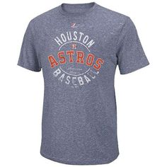 497d8c3718 Majestic Houston Astros The Big Time Fashion Tri-Blend T-Shirt - Navy Blue