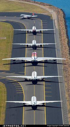 Очередь на взлёт в аэропорту Сиднея