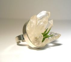 Crystal Points Planter Ring Tillandsia Air Plant by RawEarthStudio, $42.00