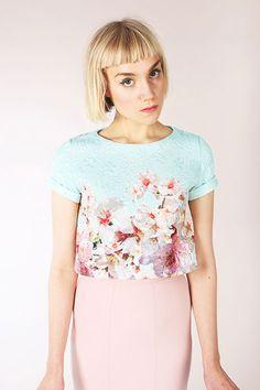 digital inari t-shirt dress + crop tee sewing pattern